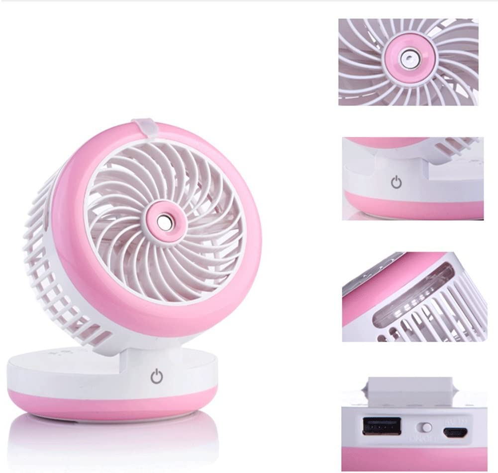 Ultra-quiet USB Fan Multifunctional Spray Beauty Fan Family Travel Fan Air Circul Spray Cooling Bed Student Dormitory USB Rechargeable Portable Small Electric Fan Air Conditioning Mini Charging Fan