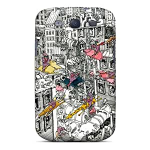 Fashion Tpu Case For Galaxy S3- Dgd Dtbm2 Defender Case Cover