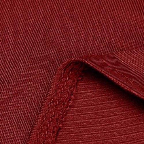 Basique T Plier Ete Tank SANFASHION Amincissant Femme lgant Dbardeurs Rouge Top Haut Chic Bouton Shirt fAqOzW0q