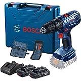 Parafusadeira Furadeira Bosch GSB 180-LI 18V com 2 baterias, 1 carregador e 1 maleta