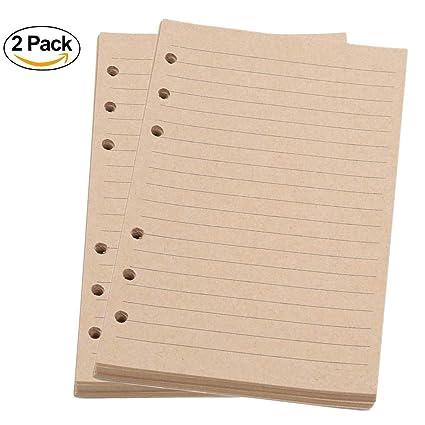 Insertos de planificador A5, recambio de cuaderno en espiral ...