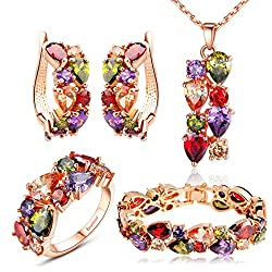 Mutlicolor Crystal Bridal Women's Jewelry Sets