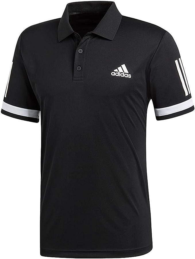 adidas Mens Tennis Club 3 Stripe Polo