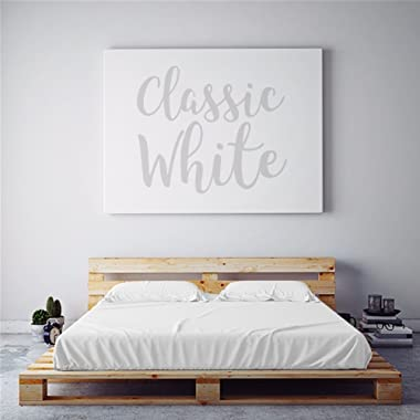 PeachSkinSheets Night Sweats: The Original Moisture Wicking, 1500tc Soft Regular King Sheet Set Classic White