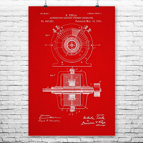 Tesla Alternating Electric Current Generator Poster Art Prin