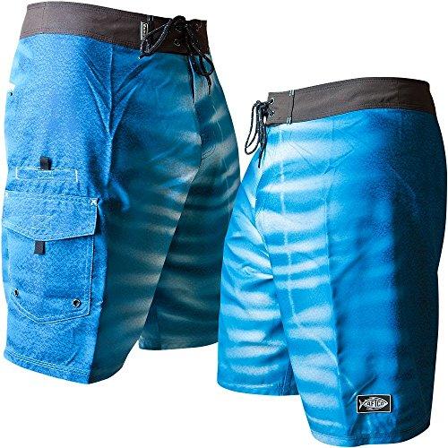 - AFTCO Wahoo Boardshorts - Blue - 28