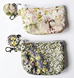 Quilted Wild Flowers Coin Purse,Your Choice Handcrafted Small Wallet,Lobster Clip,RTS,Credit Card Case,Roses Piece Quilted