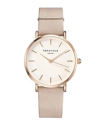 Rosefield Reloj Analógico para Mujer de Cuarzo con Correa en Cuero WSPR-W73: Amazon.es: Relojes