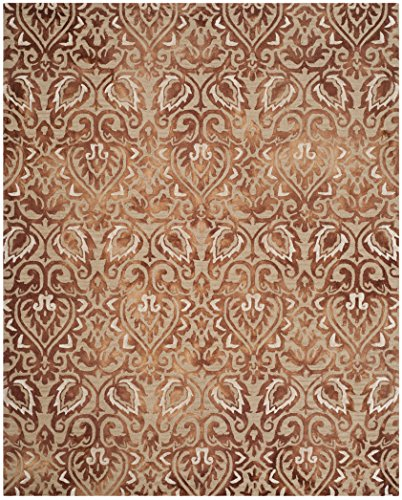 Safavieh Dip Dye Collection DDY511Q Handmade Copper and Beige Wool Area Rug (8' x (Copper Wool Rug)