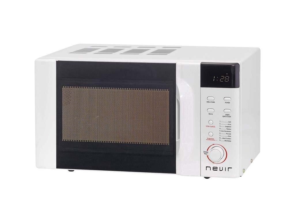 Microondas grill 23l nevir nvr6130mdg23 blanco: Amazon.es: Hogar