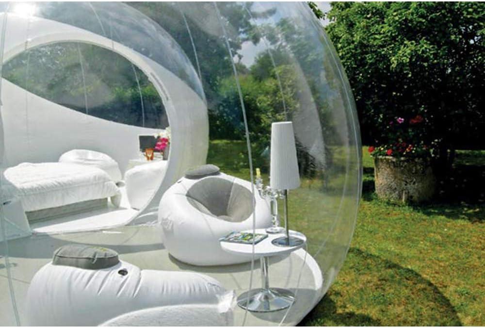 ZYJFP Garden Igloo Casa Inflable De La Tienda De La Burbuja, Tiendas De La Bóveda del Aire Transparente del Patio Trasero Que Acampa De La Familia Jardín (Personalizable),5MDiameter: Amazon.es: Hogar