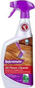 Rejuvenate High Performance All-Floors and Hardwood No Bucket Needed Floor Cleaner Powerful PH Balanced Shine with Shine Booster Technology Gold Certified for Low VOC Best in Class Products 32oz
