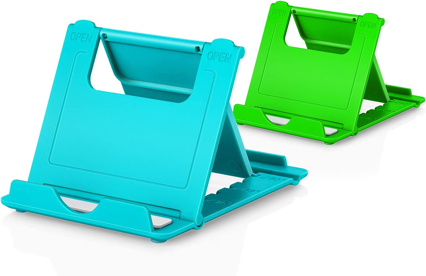 stands Foldable Multi-angle for desk lightweight Desktop Dock Cradle Compatible for iPhone Xs Max XR 8 Plus 6 7 6S X 5 Black Blue Green Pink 4-7.9 Phone Stand 4pack Cellphone Holder