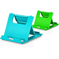"""Cell Phone Stands, Abetcabe 2-Pack Cellphone Holder (4-7.9"""") Foldable Stands Multi-Angle for Desk Lightweight Desktop…"""