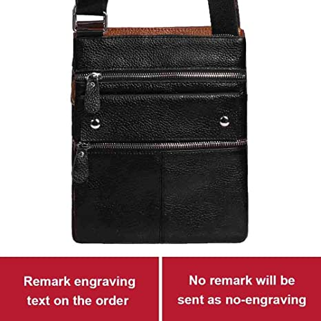 Amazon.com: 2018 Brand Genuine Leather Men Bag Casual ...
