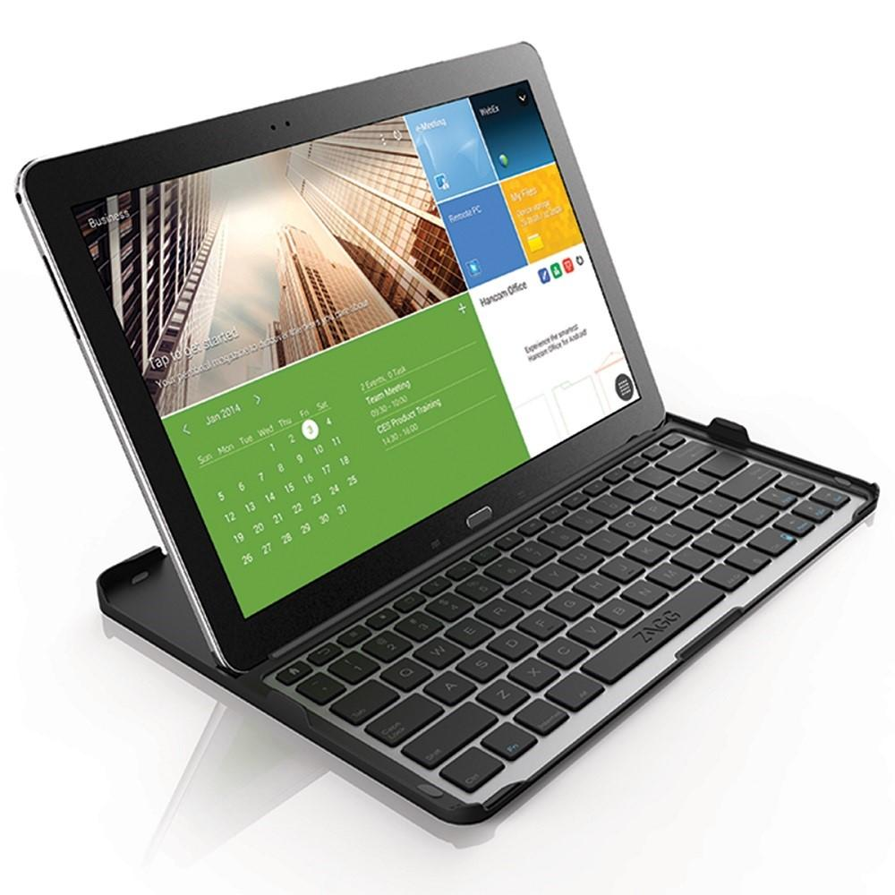 zagg cover fit case with bluetooth keyboard for samsung 12 2 inch galaxy note pro or tab pro. Black Bedroom Furniture Sets. Home Design Ideas