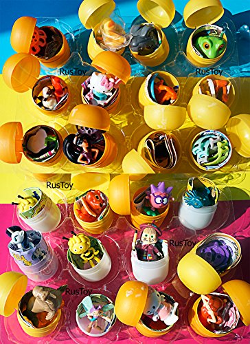 [[RusToyShop] 20 psc for Girls Toys From Kinder Surprise Eggs in Shells Capsules Party Favor Filled Easter Eggs figures cupcake toppers] (Where Does Halloween Come From)
