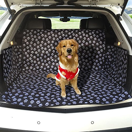 Pet Car Seat Cover With Safety Carrier Hammock, Waterproof Oxford SUV Boot Liner Protector, Pet Hammock Mat Pad Travel