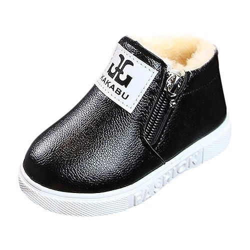 Botas y Botines de Nieve Bajos para Niñas Niños Invierno Pelo PAOLIAN Zapatos Piel Bebés Niñas
