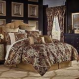 Croscill Bradney King Comforter Set Red 4 Piece