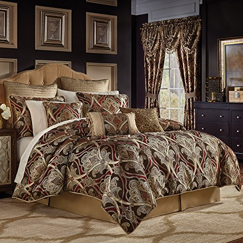 Croscill Bradney King Comforter Set, Red, 4 Piece Black Friday & Cyber Monday 2018
