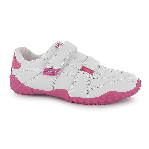 Lonsdale Ninos Infantil Zapatillas Deporte Durable Grip Suela Cuero Calzado: Amazon.es: Zapatos y complementos
