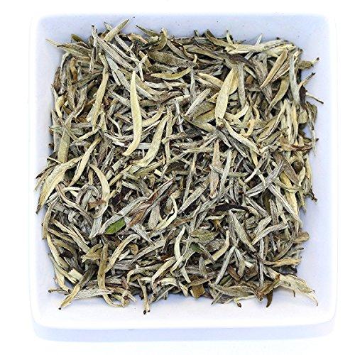 Tips Loose Leaf - Tealyra - Premium White Silver Needle Tea - Bai Hao Yinzhen - Organically Grown in Fujian China - Superior Chinese Silver Tip White Tea - Loose Leaf Tea - Caffeine Level Low - 110g (4-ounce)