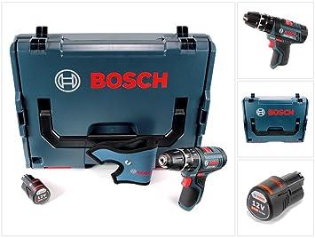 Bosch GSB 12V-15 Akku Schlagbohrschrauber in L-Boxx Ladegerät 2x 6,0 Ah Akku