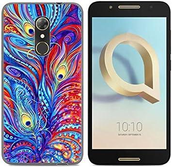 PREVOA Funda para ALCATEL A7 - Colorful Silicona TPU Funda Case para ALCATEL A7 Smartphone: Amazon.es: Electrónica