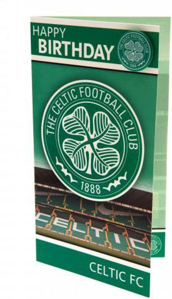 Birthday Card with Badge Celtic F.C