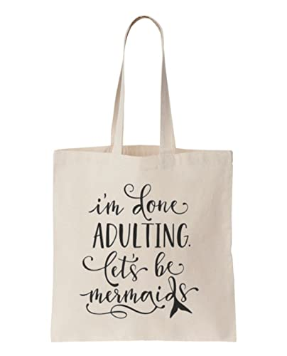 Shopping Tote Bag For Life Mermaid Lets Be Mermaids