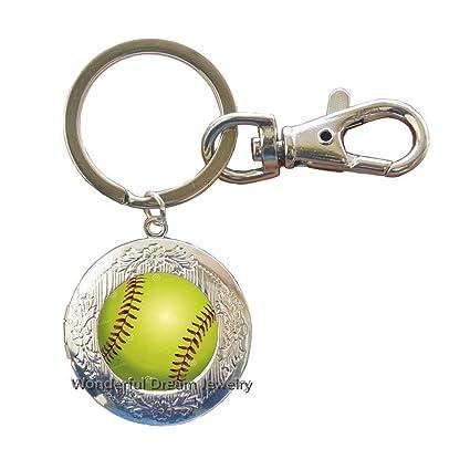 Llavero de béisbol con diseño de bola minimalista, color ...