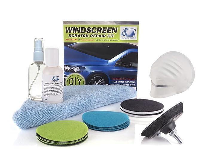 Glass Polish Kit de reparación de arañazos DIY Reparación de Parabrisas, Parabrisas limpiaparabrisas Sistema de Pulido, Elimina los arañazos, ...