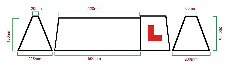 Señal magnética de techo, con iluminación LED para profesor ...