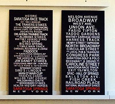 Saratoga Race Track & Saratoga Springs - Set of Bus Roll Prints by SaratogaRocks™