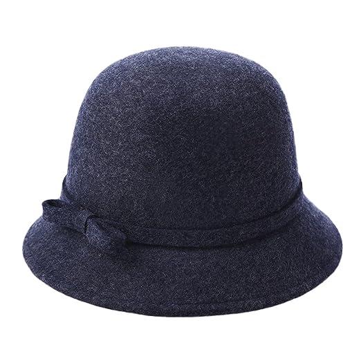 Women Elegant Felt Fedoras Hat Cloche Brim Hat Wool Bucket Caps at Amazon  Women s Clothing store  6ed8aa793eb
