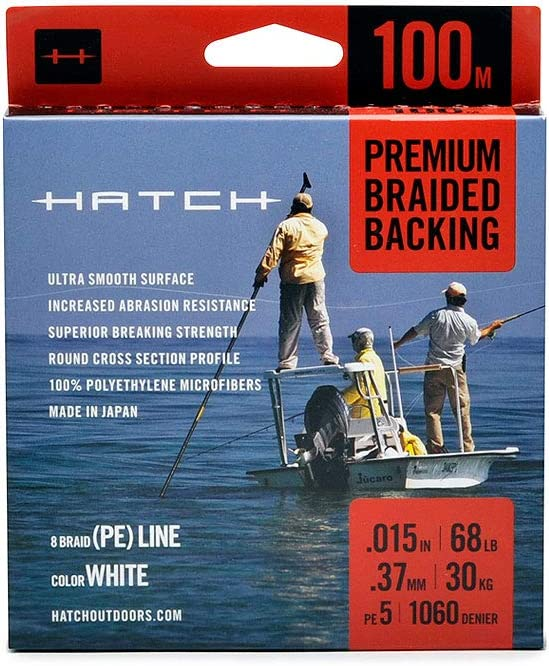 Hatch Outdoors Premium Braided Fly Line Backing – 100 Meters