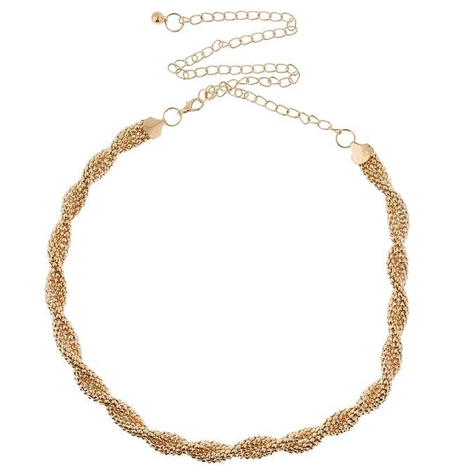 eb5de7a391bb67 Fenteer Damen Strass Gürtel Gold Taillengürtel Hüftgürtel Belt Brautgürtel Kleid  Dekoration