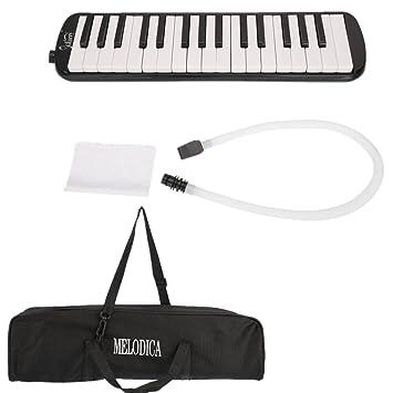 Teclado de melodía portátil instrumento de viento con boquilla y manguera (32 teclas),