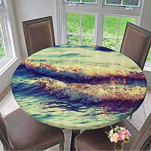 Round Tablecloths Ocean Love Sailing Home Coastal Nautical Bathroomati Ideas with 31.5