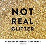 Andaz Press Wedding Framed Party Signs, Gold Glitter Print, 5x7-inch, Cards and Gifts Thank You, 1-Pack, Not Real Glitter, Includes Frame