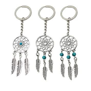 Amazon.com: Yuccer Dream Catcher Keyring, Hamsa Hand of ...
