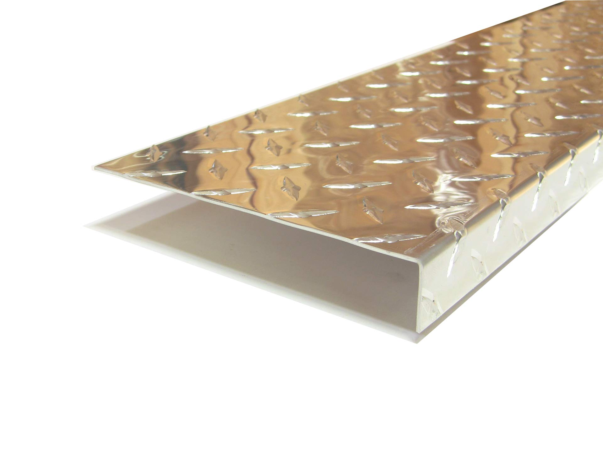 Aluminum Diamond Plate Angle .062 x 1 x 6 x 48 in. Offset UAAC (1pcs) | (1/16 x 1 x 6 x 48 in.)