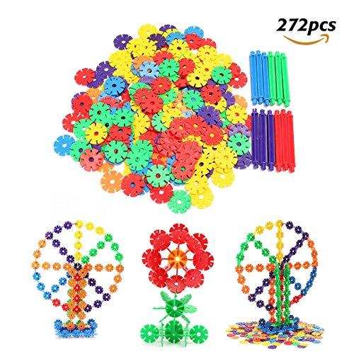FUNTOK Brain Flakes 272 Pieces Interlocking Plastic Discs Sn