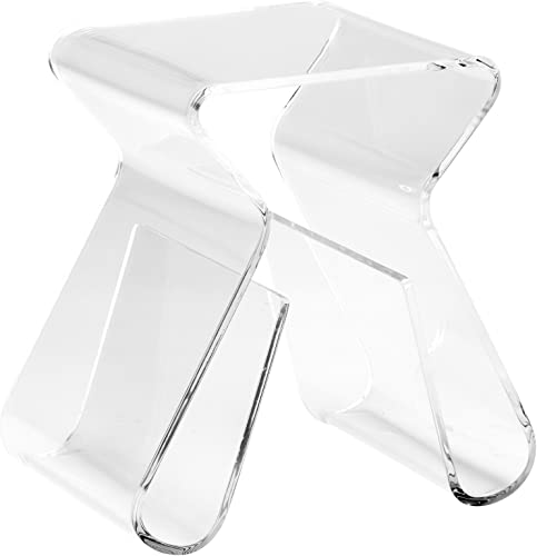 Poly and Bark Mag End Table, Clear