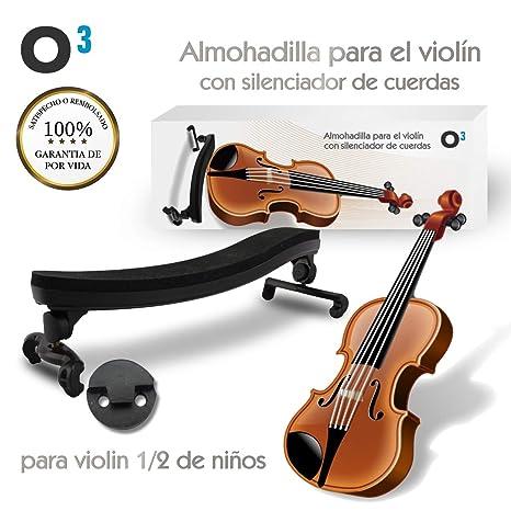 O³ Almohadilla Violin 1/4 a 1/2 Ajustable Para Violin Niño – Con