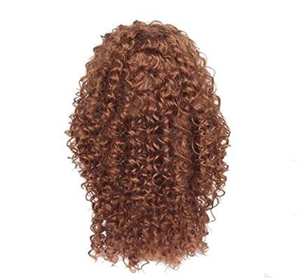 La cabeza femenina de la peluca de la moda, pequeño pelo rizado ...