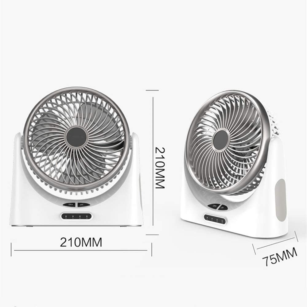 Jajx-comac USB Personal Desk Fan Mini Powered Desk Fan with Nightlight 3 Speeds Quiet 90/° Up and Down Small Table Fan Switch On//Off /& Travel Great for Desktop Tabletop Office for Home Office Table