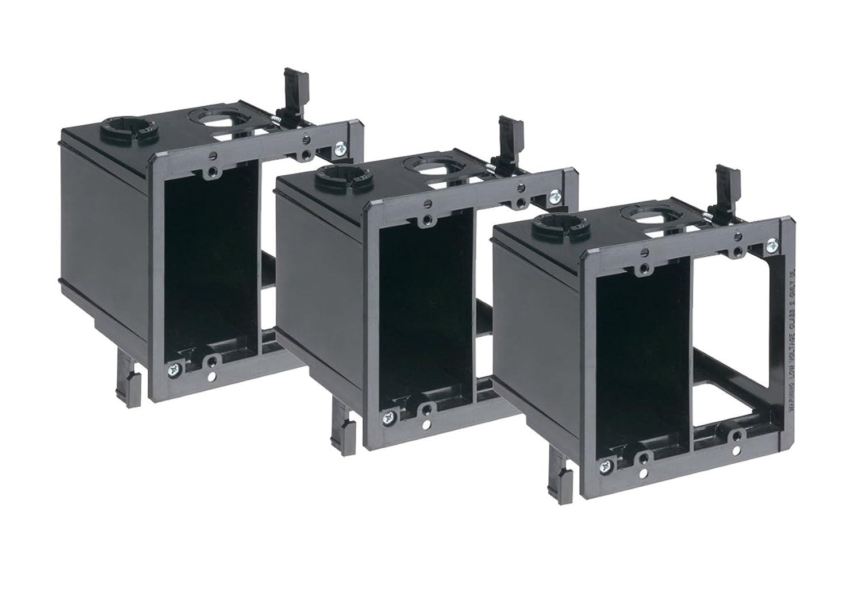 3 Pack Arlington LVDR2 3 2 Gang Combo Electrical Low Voltage Box Black