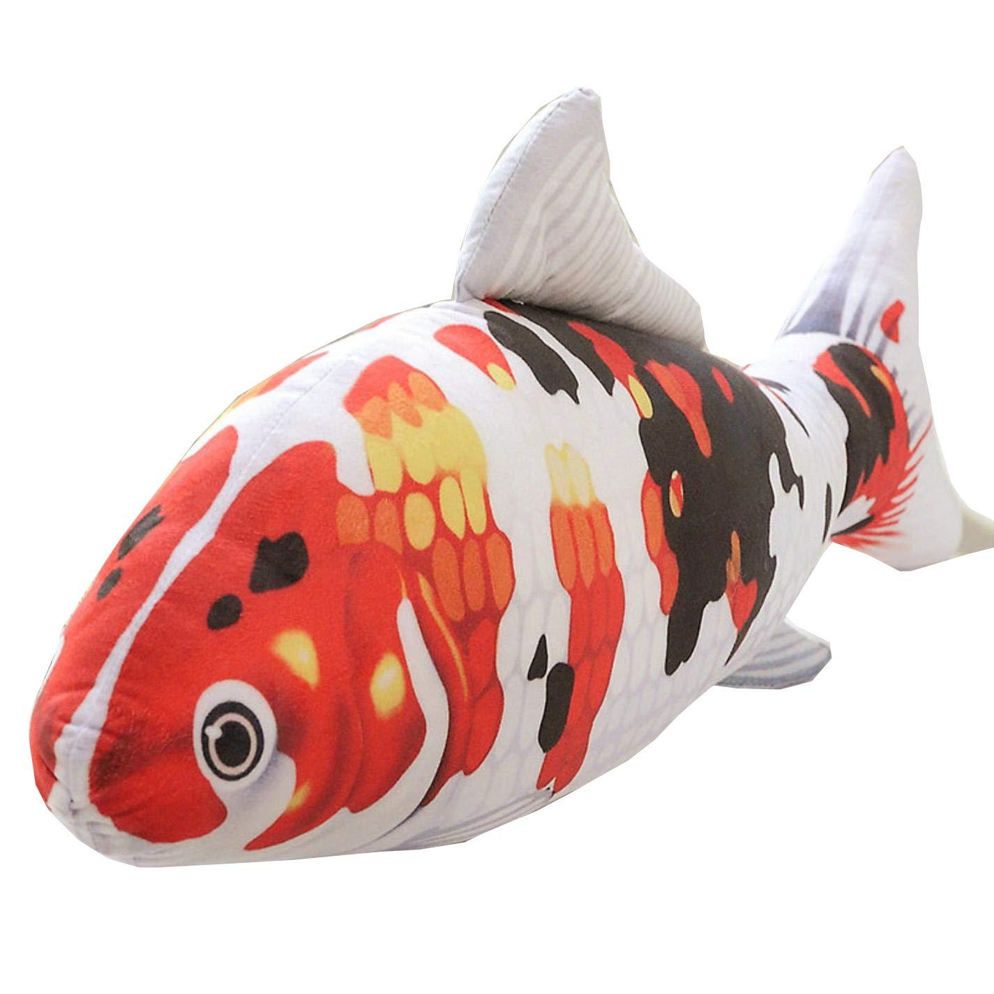 140cm Toy Fish Koi Carp Plush Toy Lifelike Stuffed Aquatic Fishes by Awooi